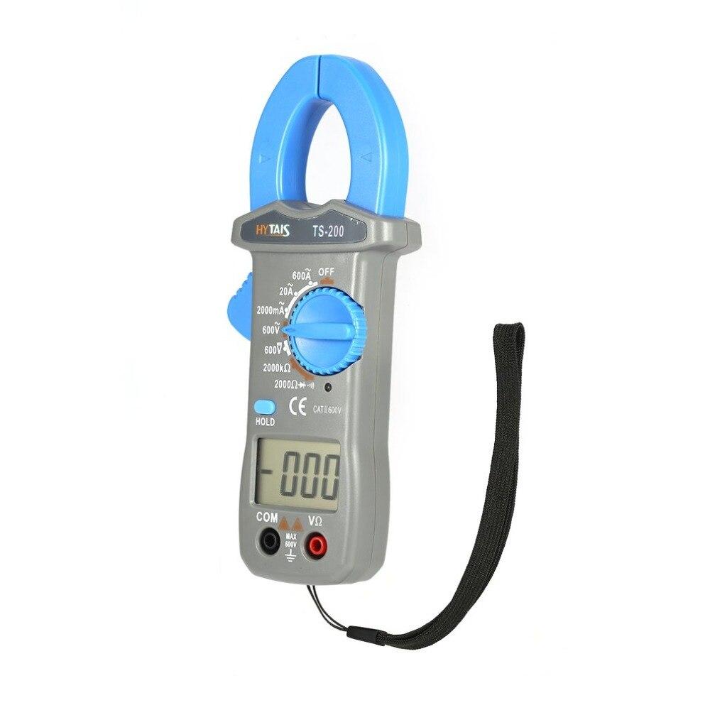 HYTAIS TS200 600A 600 в вольтметр мультиметр Цифровой клещи мультиметр Напряжение Ток Сопротивление Clampmeter AC/DC тестер
