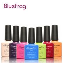 BLUEFRAG 1PCS Sapphire Nail Gel Polish New 80 Fashion UV Gel Polish Varnish 7.3 ML Soak Off Long-Lasting Nail Art Gel for nail