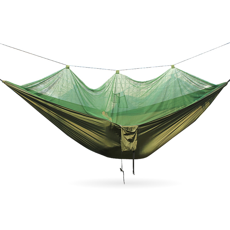Portable Camping Hammock Mosquito Outdoor Mosquito Net Parachute Hammock large hammock mosquito net portable outdoor encryption mesh fit all outdoor hammock camping easily installed outdoor equipment