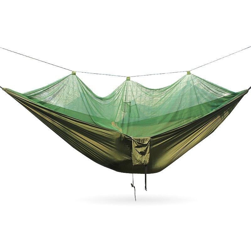 Portable Camping Hammock Mosquito Outdoor Mosquito Net Parachute Hammock цена