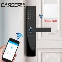 Biometric Fingerprint Door lock, Waterproof Electronic Door Lock Intelligent Door Lock Smart WiFi Lock With Free Gateway