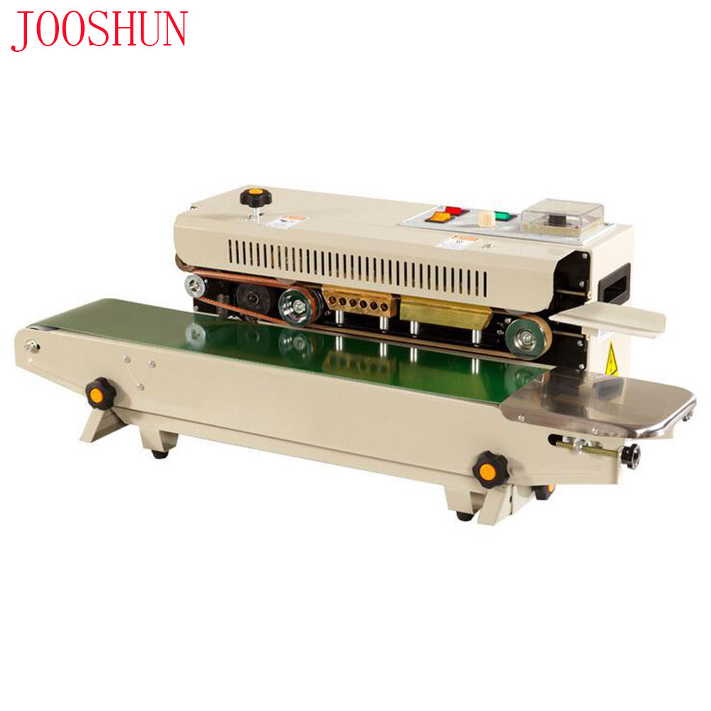 Commercial Fast Sealer Plastic Sealing Machine Automatic Film Bag Sealing Machine Continuous Band Sealer Packaging Machine 500W
