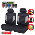 (Car-Pass) Front 2 Car Seat  Covers Universal  Black/Red/Blue/Gray/Beige Auto Seat Cover Interior Accessories Car-Covers