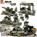 Custom Us Army Artillery Brigade Battle Team Bloody Combat Weapon Military Camp Building Blocks Model Toys Compatible with Lego