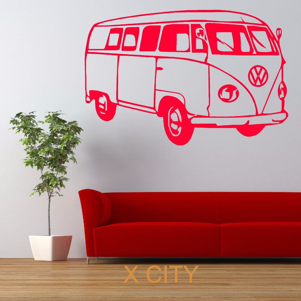 Vw Quote Vw Camper Van Famous Bus Car Wall Art Sticker Vinyl Transfer Decal