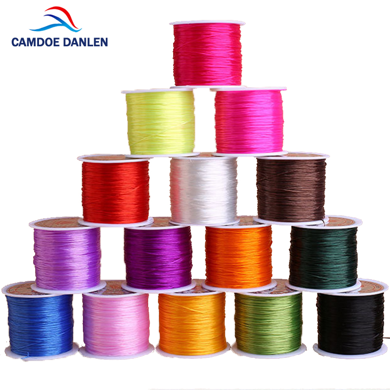 CAMDOE DANLEN 1Roll/lot 0.6mm Elastic Thread Round Crystal Line 12colors 60M Diy Nylon Rubber Stretchy Cord For Jewelry MakingCAMDOE DANLEN 1Roll/lot 0.6mm Elastic Thread Round Crystal Line 12colors 60M Diy Nylon Rubber Stretchy Cord For Jewelry Making