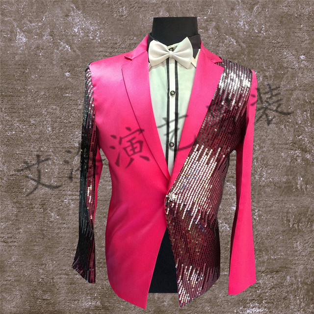 Новые блестки костюм хан издание мужская развивать нравственность платье Певица хор костюмы одежда мужской хост