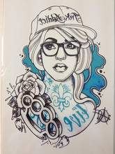 ARRIVAL 21 X 15 CM HIP-POP Girl Temporary Tattoo Stickers Temporary Body Art Waterproof#121