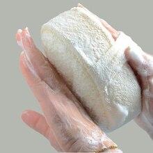 Губка из натуральной люфы Ванна мяч Душ тереть для всего тела здоровая Массажная щетка
