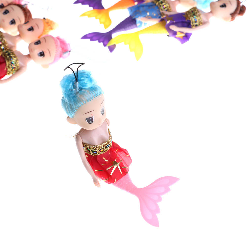 Baby Kid Doll With Fish Tail Phone Decor Toy Cartoon Princess Mermaid Doll Toy Decor For Girl Birthday Xmas Gifts