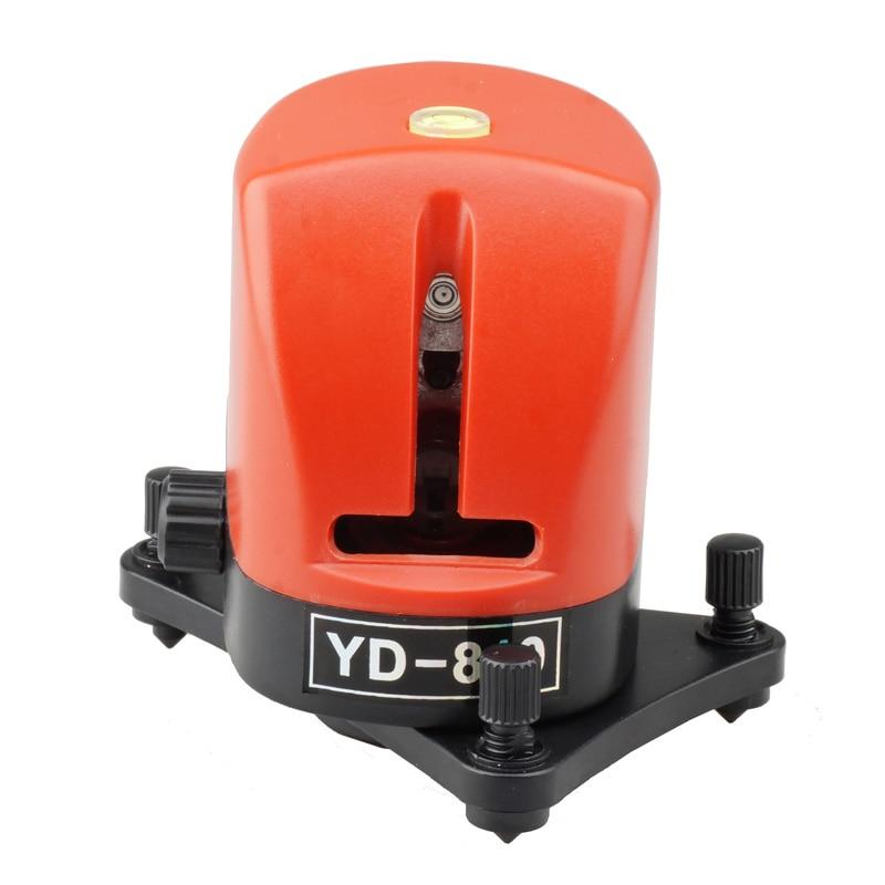 ФОТО ACUANGL Laser Level 2 Line Mini 360 Self-leveling Cross Red Line Lazer Level YD-810 Measuring Instruments Diagnostic-tool