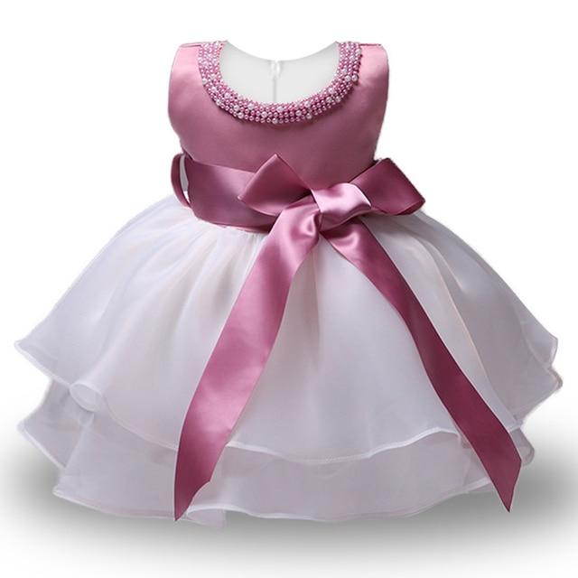 2ae930604a 1 rok chrzest dziewczyna maluch sukienka Baby Girl suknie urodzinowe dla dziewczynek  dzieci Wedding Party nosić