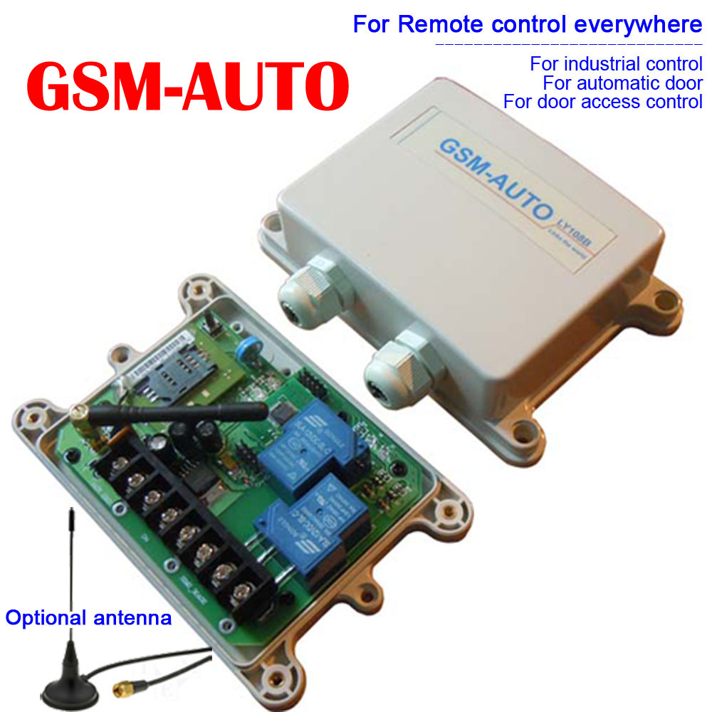 Double Big power relay GSM remote control box ( Model: GSM-AUTO ) (On board clock for your timer working function ) цена