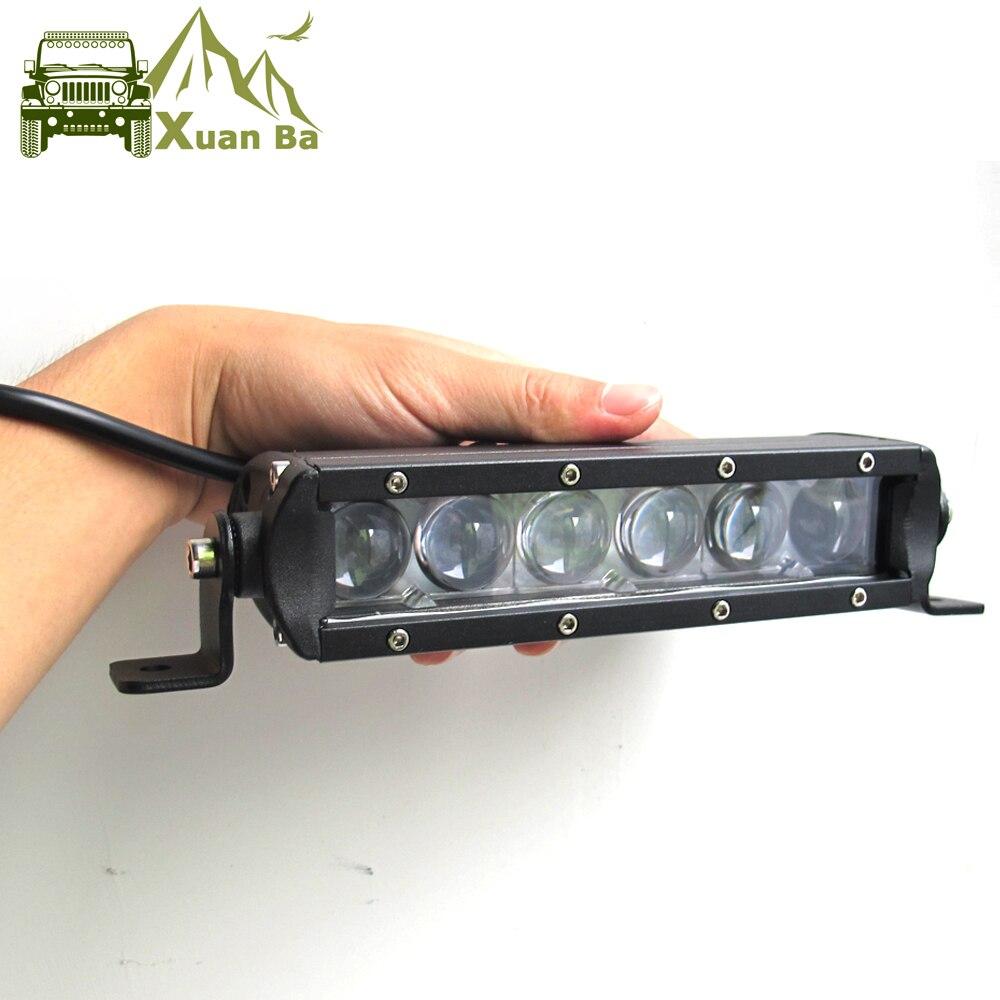 4D Lentille Unique Rangée 21 31 41 51 Pouces LED 4x4 Offroad Lumière Bar Pour 12 V 24 V UAZ Hors route SUV Camion 4WD Lampes de Travail Voiture Lampe