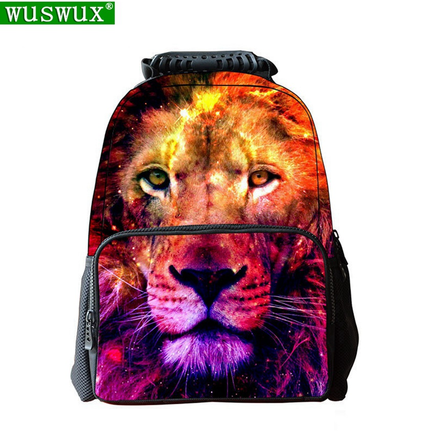 3D Printing Personality School Bag Children Backpack New Fashion Large Capacity Felt Printing School Backpack Student Backpacks