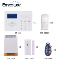 DIY Home Alarm System GSM PSTN Burglar Alarm Security System With Pet Friendly PIR Detector And