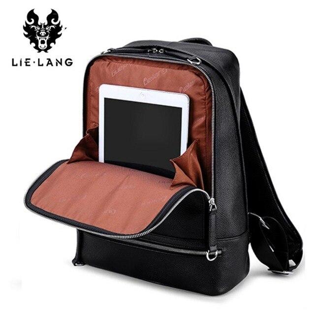 LIELANG Backpack Men 2018 Genuine Leather Mochila USB Charge Laptop Backpacks Anti-theft Backpack Tourist Boys Shoulder Bag 5