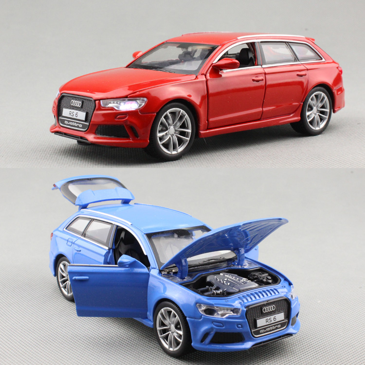 Cool 1:32 RS6 SUV Zinc Alloy Model Car,children's Sound And Light Pull Back 4 Open Door Toy Car Model,free Shipping