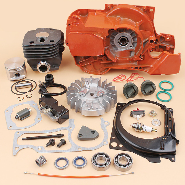 US $135 65 |Crankcase Flywheel Ignition Cylinder Piston Engine Kit For  Husqvarna 362 365 371 372 Chainsaw Motor Rebuild Parts 50MM-in Chainsaws  from