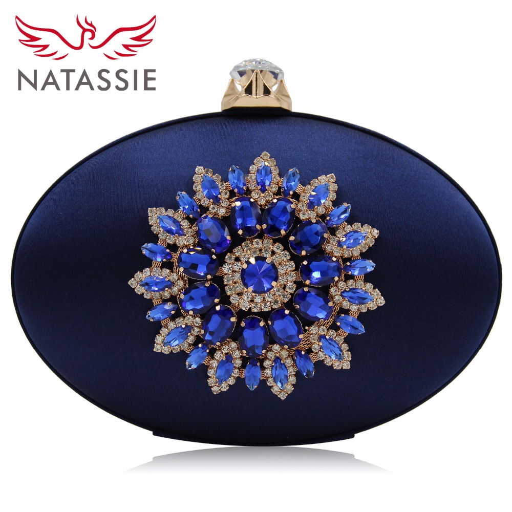 NATASSIE Causal Day Clutches Ladies Party Purse Women Bag Evening Bags Flower Clutch