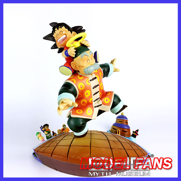 MODEL FANS Dragon Ball GK Son Goku childhood and grandpa Son Gohan gk resin figure for collection цена 2017