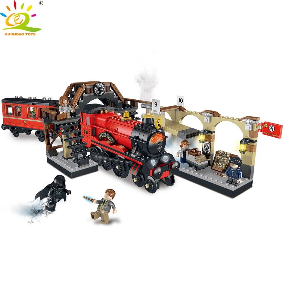 836 pcs Harry Potter Hagwarts Express Blocs de Construction Compatible Avec Légèreté ville train briques Ensemble Jouets Éducatifs pour enfants