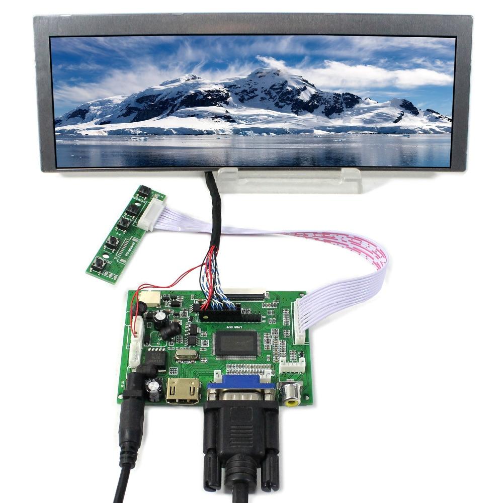 HDMI VGA 2AV LCD Controller Board 9 1 LQ091B1LW01 822X260 LCD Screen