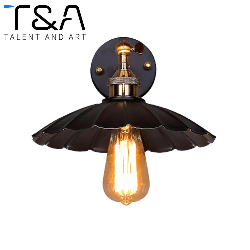 New Arrive Vintage Wall Sconce For Home Restaurant Cloth Shop Dinning Room Coffee House Loft Retro