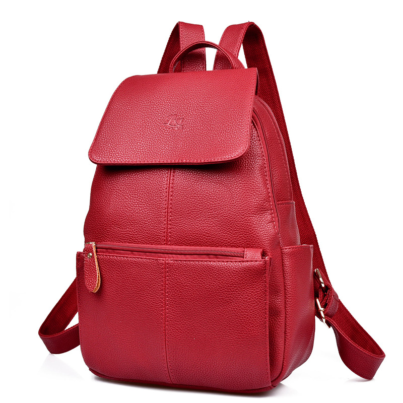 High Quality Women Backpacks Leather School Bag Backpacks School Bags for Teenagers Girls Female Daily Backpack Travel Back Pack 2017 small vintage navy blue deinm backpack with cover high quality women daily backpacks for travel 2colors casual jeans bag