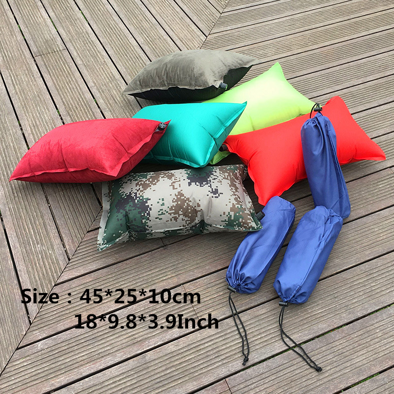 Image 4 - VILEAD Portable Inflatable Camping Pillow Travel Plane Hotel Sleep Outdoor Hiking Dropshipping Ultralight Comfortable 45*25 cm-in Camping Pillows from Sports & Entertainment
