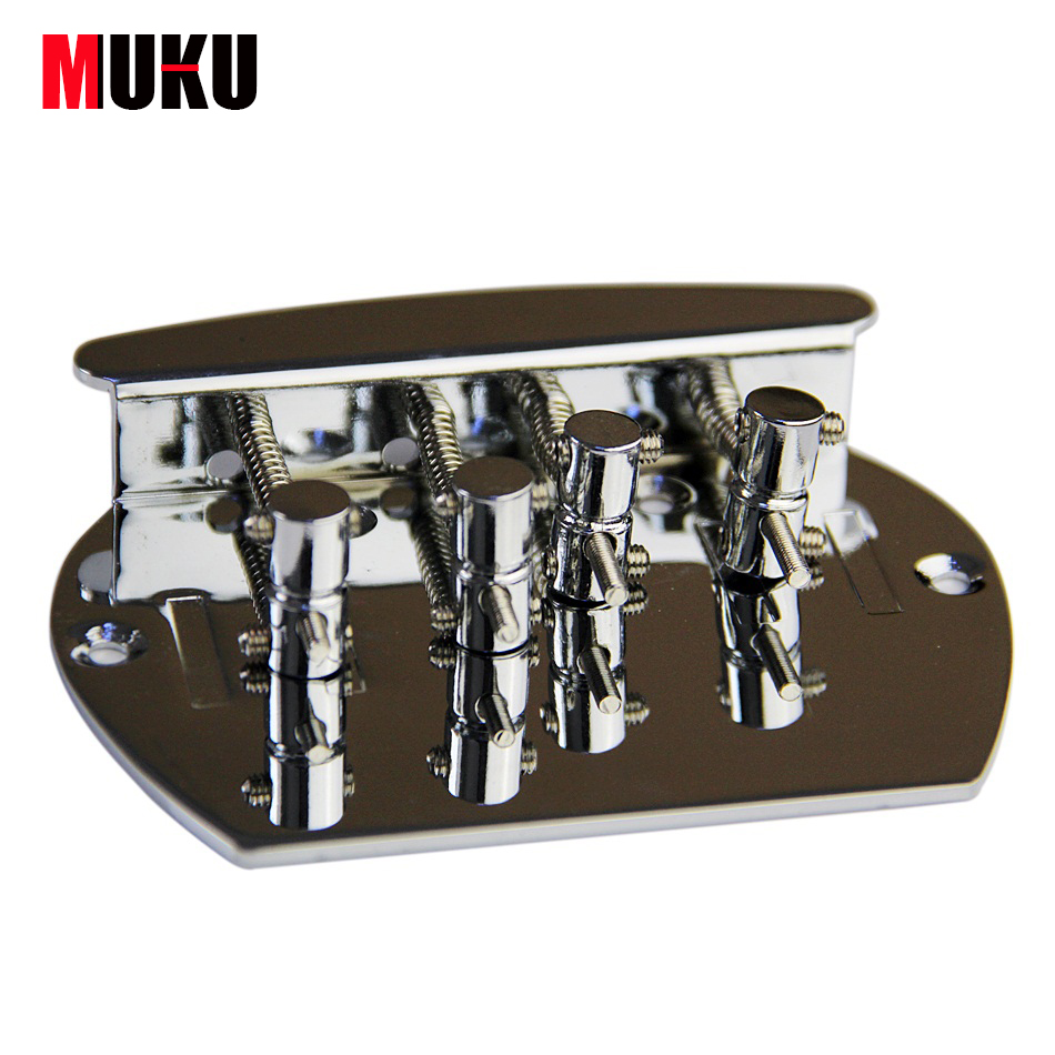 Chrome Vintage 4 String Bass Bridge For Fd Jb J Aliexpresscom Buy Free Shipping Wilkinson Covered Replacement