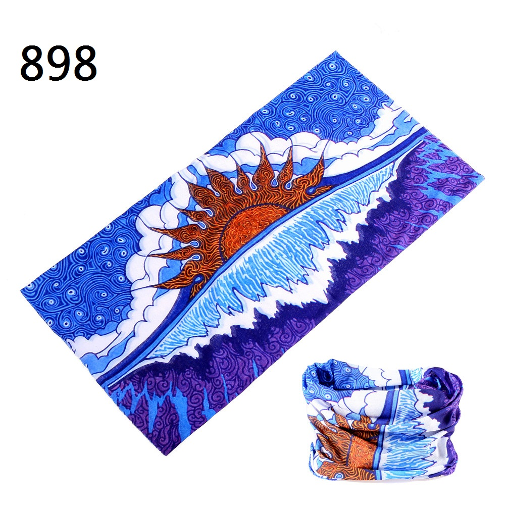 851-910  Outdoor Sports Head Scarf Climbing Hiking Cycling Running Windproof UV Protect Headwear Bandana Face Mask Neck Scarves