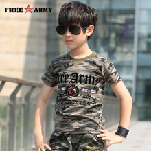 2017 Free Army Brand Fashion Unisex T Shirt Cotton Children T-Shirt For Boys Clothing Summer Tops Tee Shirt Kids Clothes