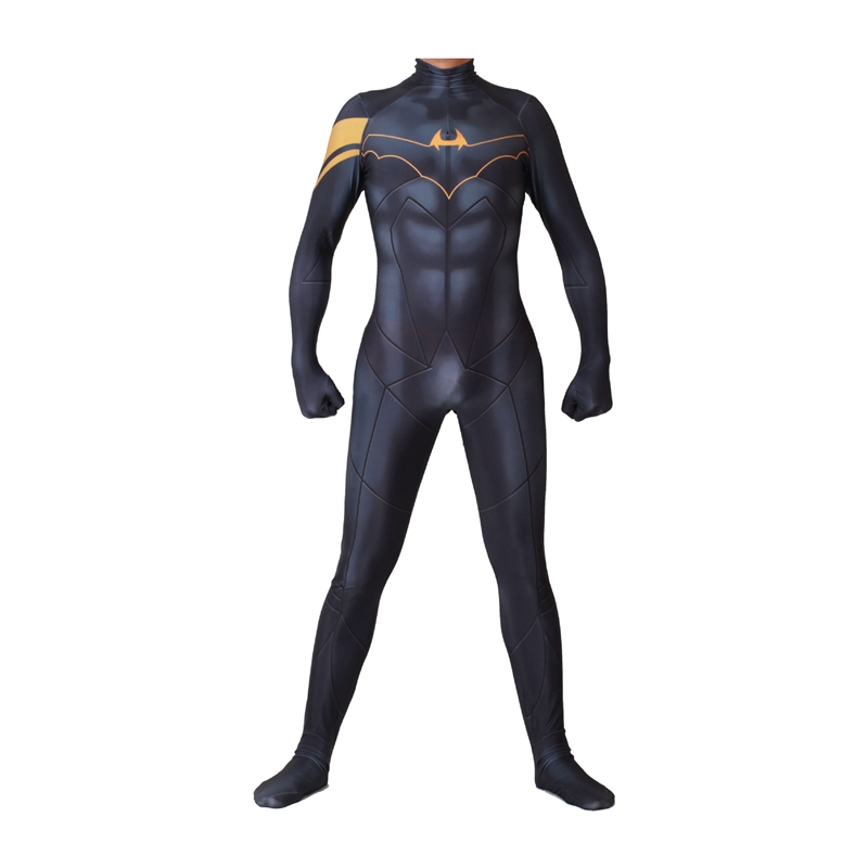FOGIMOYA Superhero Movie Batman Cosplay Costume Bruce Wayne Zentai Bodysuit Suit Jumpsuits