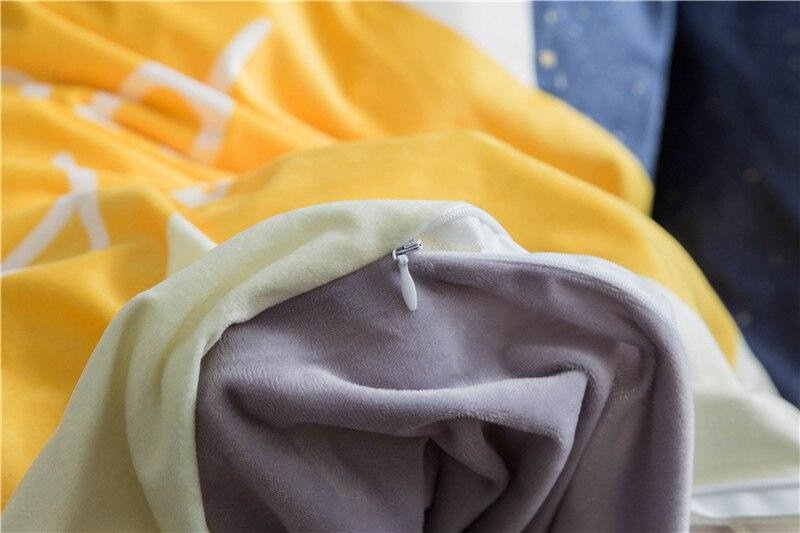 Textile à la maison, ours mignon Imprimé 4 pièces ensembles de literie de luxe Polaire tissu Housse de couette drap de Lit Taie D'oreiller, taille Queen, livraison gratuite - 6