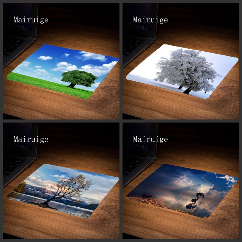 Mairuige Wholesale Price tree scenery Pad PC LOL Gaming Rubber Mousepads Decorate Your Desk Anti-slip Rubber Mousepads 22x18CM ...