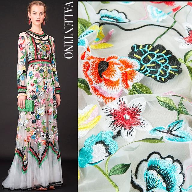 Aliexpress.com : Stickerei mode couture spitze stoff, blumenmuster ...
