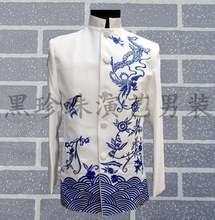 Мужские костюмы туники в китайском стиле Сценические для мужчин
