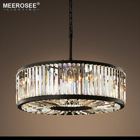Round Crystal Chandelier Lighting Crystal Lamp Illumination Hanging Light for Living room Hotel Suspension Lustres de Cristal