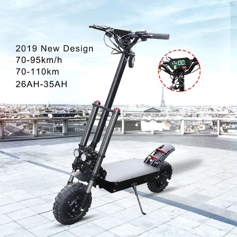 Scooter électrique haute vitesse 80 KM/H 3200W double moteur électrique 35AH Samsung batterie adulte pliable Longboard Hoverboard planche à roulettes