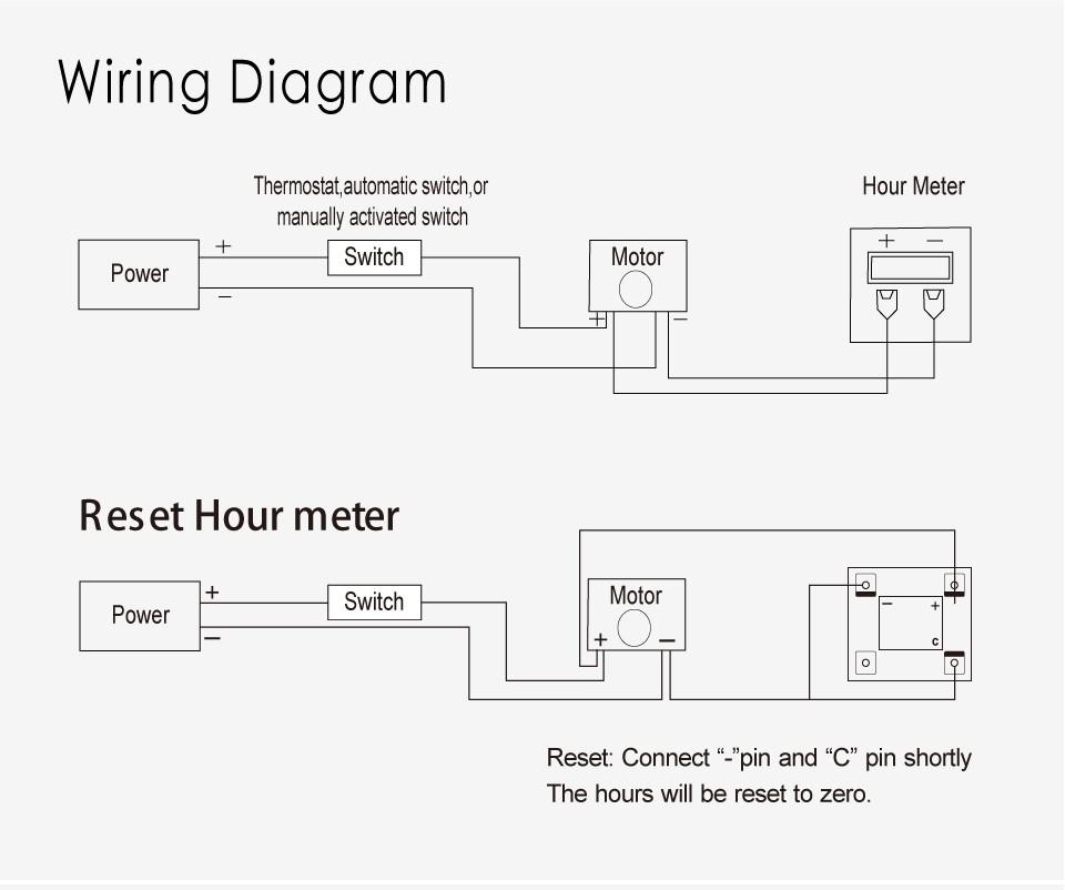 hour meter wiring diagram lcd hour meter for any engine marine atv snowmobile jet ski engine hour meter wiring diagram engine marine atv snowmobile jet ski