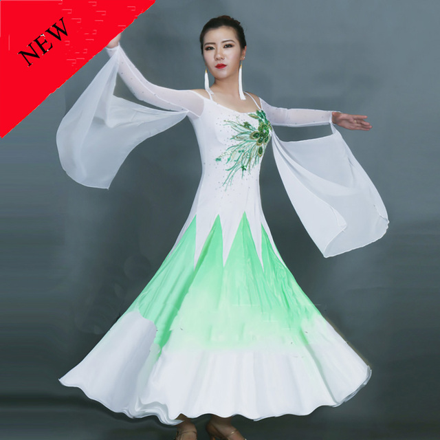 Present Modern Dance Dresses For Ladies Purple Pink Green