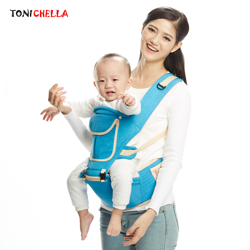Ergonomic Design Baby Carrier Double Shoulders Multifunctional Hipseat Infant Sling Portable Newborns Hip Seat Carriers BB3016 кенгуру для детей ergonomic baby carrier baby carriers 01