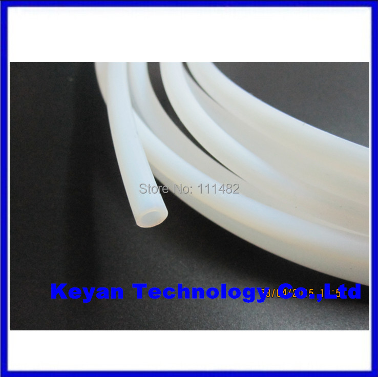 1M PTFE Tube Teflon PiPe To J-head Hotend RepRap Rostock Bowden Extruderfor 1.75mm/3mm Filament ID 2mm/4mm OD 4mm/6mm