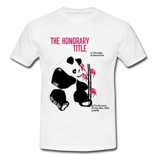The Honorary Title American Alternative Indie Rock White T-Shirt S-3XL Men'S Short Sleeve T-shirt Cotton