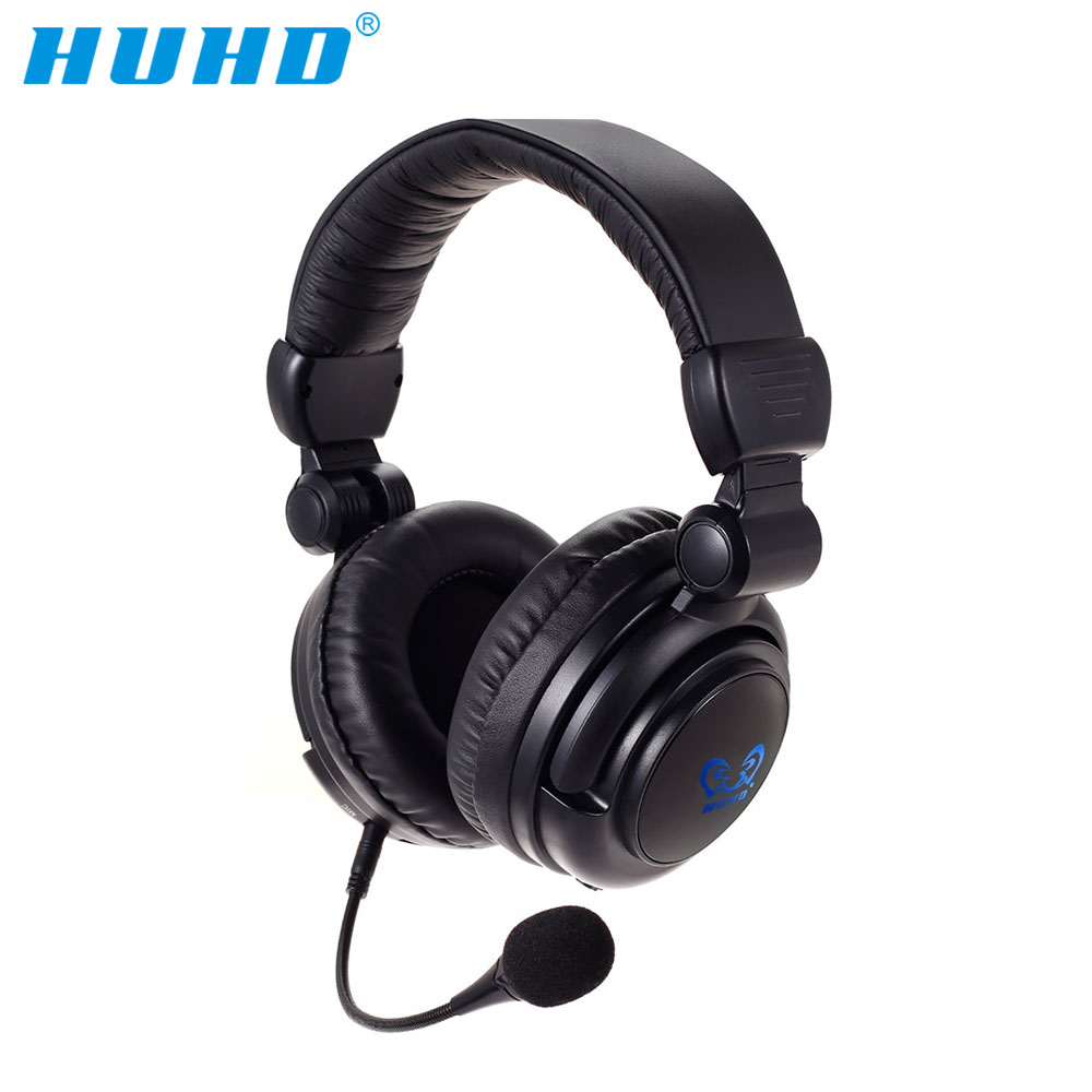 HUHD HW-933MI 2.4 Ghz Optical Wireless Stereo Vibration Gaming Headset For PS4,xbox,PC,headphones with microphone,LED backlight