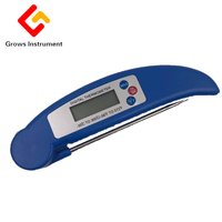 Grows Instrument Household Food Thermometer Fast Stainless Steel Probe Temperature Meter 300 Degree BBQ Food Cake Baking