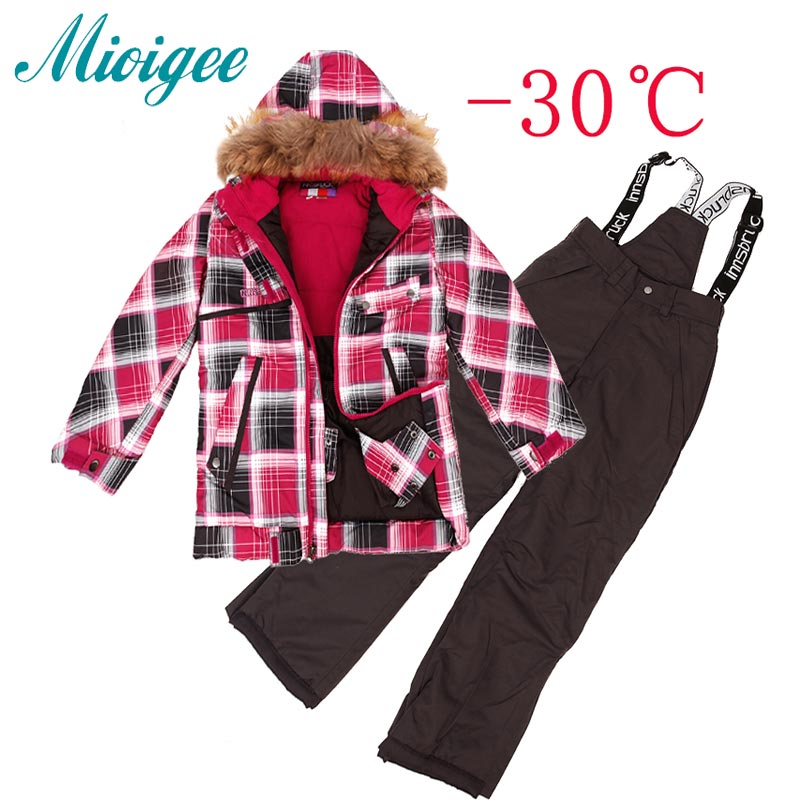 Boys Outerwear Warm Coat Sporty Ski Suit Kids Clothes Sets Waterproof Windproof boys Jackets coat For -30 Degree boys outerwear warm coat sporty ski suit kids clothes sets waterproof windproof boys jackets coat for 30 degree
