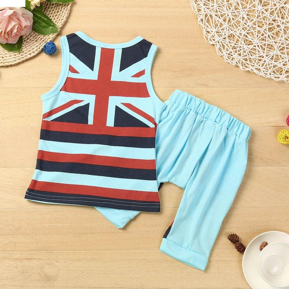 Kids Baby Boys Union Jack Outfits Vest Tops+Shorts Pants 2PC Set Clothes oct