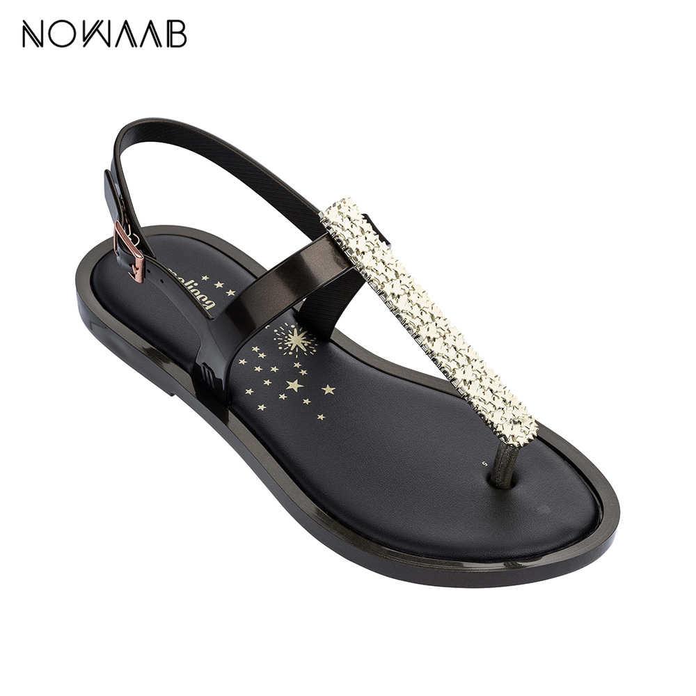 ميليسا سليم صندل II ستار 2019 الصيف ميليسا أحذية للنساء هلام أحذية الكبار الصنادل أحذية نسائية تنفس